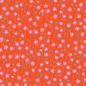 Wildflower Field M+M Watermelon by Friztin