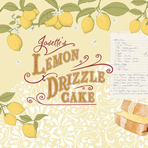 Josette's Lemon Drizzle Cake Tea Towel