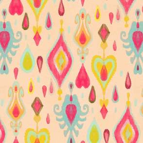 ikat rain drops // medium scale