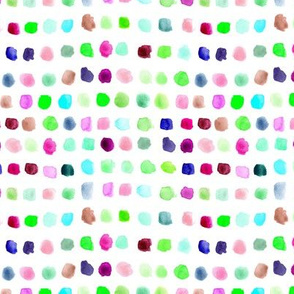 Rainbow watercolor spots - painted colorful stains for modern nursery_ kids_ baby 309