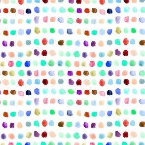 Rainbow watercolor spots - painted colorful stains for modern nursery_ kids_ baby