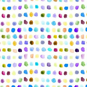Rainbow watercolor spots - painted colorful stains for modern nursery_ kids_ baby p309