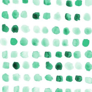 Emerald watercolor spots - painted green stains for modern nursery_ kids_ baby