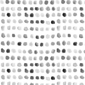 Noir watercolor spots - painted grey stains for modern nursery_ kids_ baby
