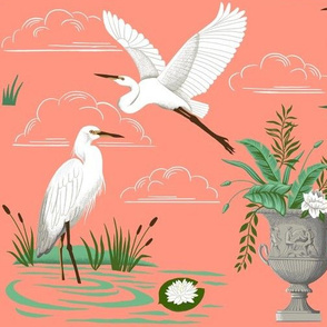 E is for Egret-Coral