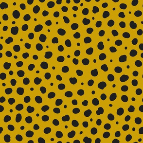 Cheetah Spots- Black on Ochre