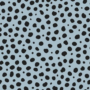 Cheetah Spots - Black on Powder Blue