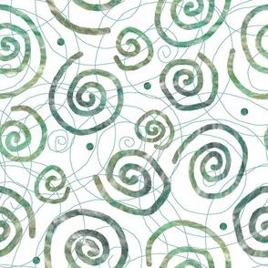 Blue Green Spirals
