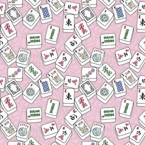 Ballet Dancing and Stretching in Hot Pink Hexagon Tiles in Medium Scale