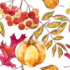 Autumn Pumpkins Leaves