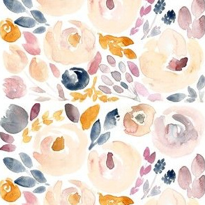 Soft Floral Fall Watercolor - small