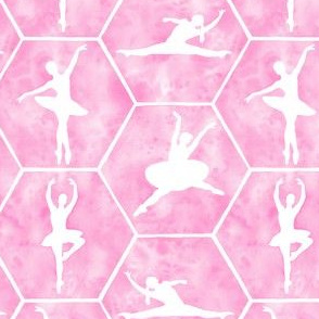 Ballet Dance and Stretching in Pale Pink in Medium Scale