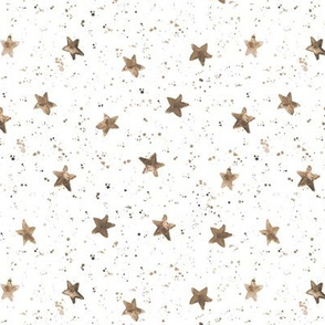 Earthy Moondust and stars - watercolor night sky with splatters and stars for modern nursery baby