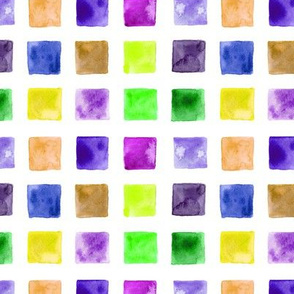 Colorful watercolor mosaic for nursery, kids
