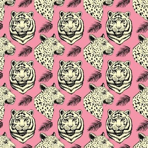 It's A Jungle - Big Cats in Pink