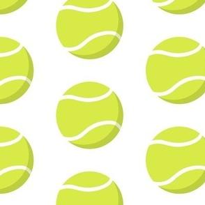simple tennis balls pattern on white
