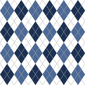 blue white argyle pattern