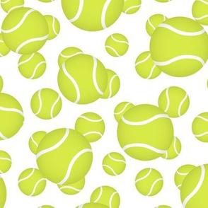 tennis balls sports pattern on white