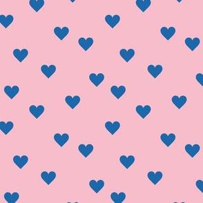 Love lovers minimal hearts basic romantic heart design pink classic blue