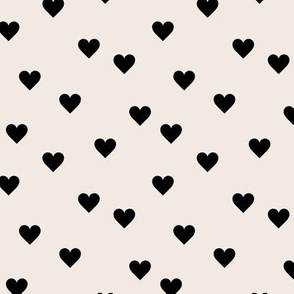 Love lovers minimal hearts basic romantic heart design off white black