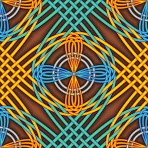 Orange Turquoise Interlace 2