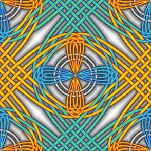 Orange Turquoise Interlace 1