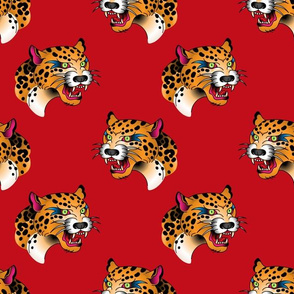 leopards red