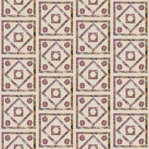 Pink and Beige Tilework Simple