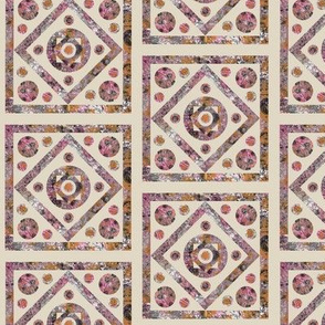 Pink and Beige Tilework Intricate
