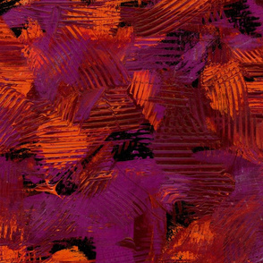 Red Purple Abstract Painterly Bright Bold Contrast
