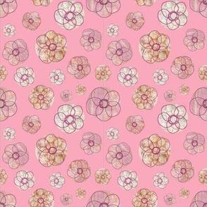 Doodle Flowers Pink Mini