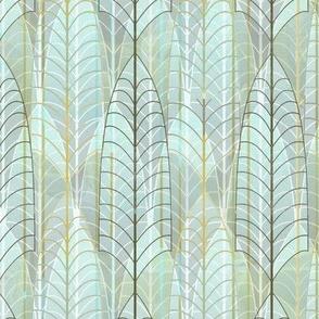 Art Deco Leaf Skeletons -- Wallpaper, Home Decor