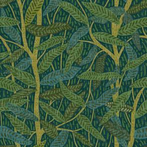 Jungle foliage - teal