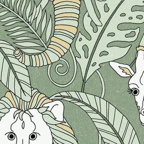 Safari Animals Jumbo - earthy green/tan