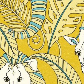 Safari Animals Jumbo - egyptian gold/turquoise