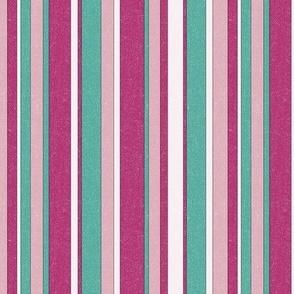 Safari Stripe - muted plum/rose