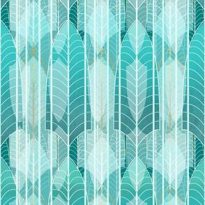 Ice Palace  Art Deco -- Wallpaper, Home Decor