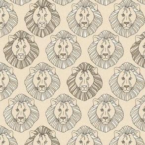 Safari Lions - vintage beige