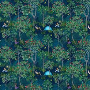 Peaceful Ohia Lehua Forest blue small