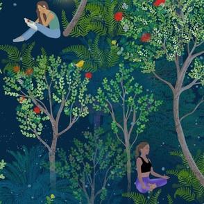Peaceful Ohia Lehua Forest large