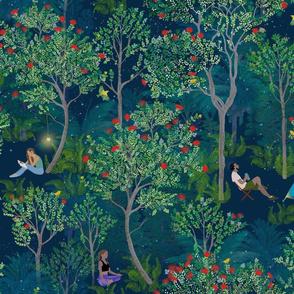 Peaceful Ohia Lehua Forest midnight