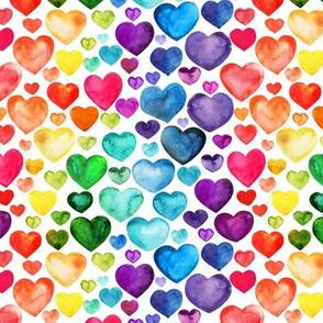 Hearts watercolor