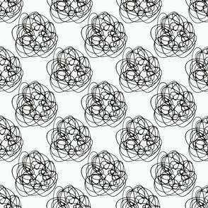 Black and White Thread balls