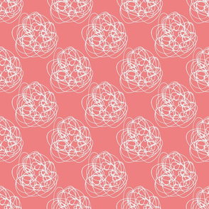 Thread balls on pink