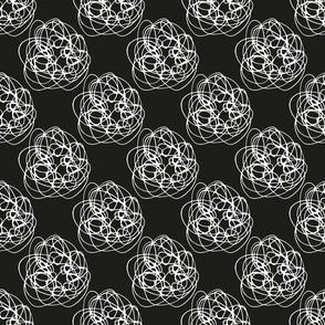 Thread Balls black and white