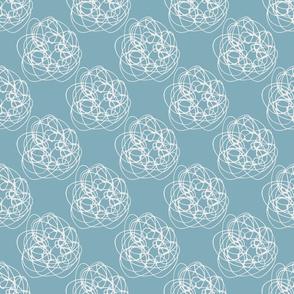 Thread Balls on light blue