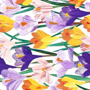 Paper Crocuses - Rotated