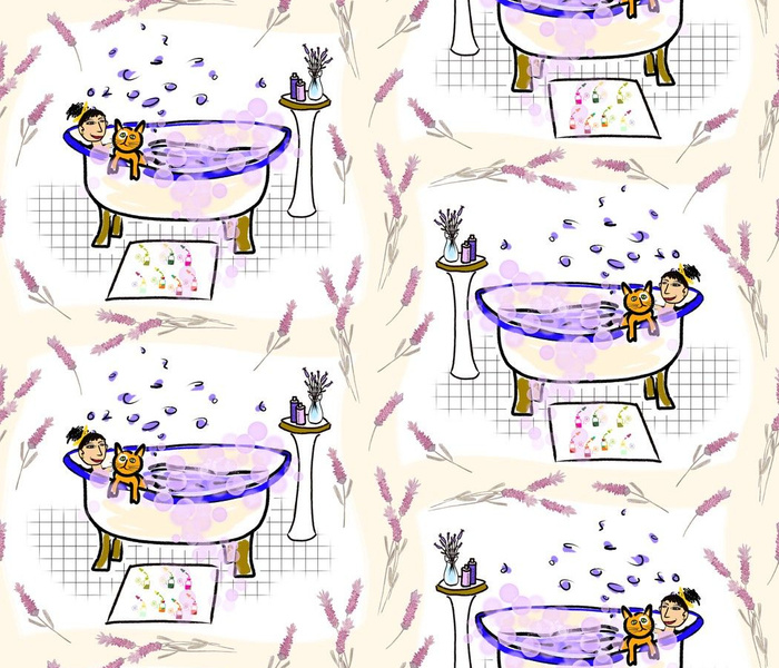 Cool Cats Love Lavender