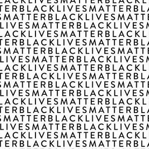 Black Lives Matter on White