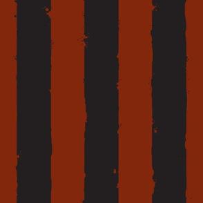 distress wide stripe black dark red
